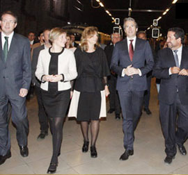 Llegada del AVE en pruebas a Castellón