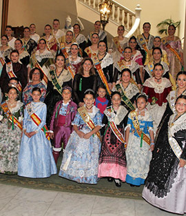 Recepción oficial a las Reinas de los pueblos de la provincia de Castellón