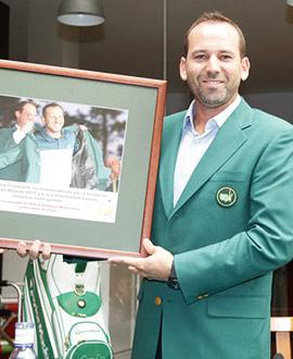 Sergio García homenajeado en su Club de Campo del Mediterráneo