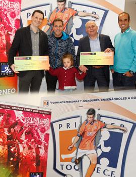 Fundación Caja Castellón entrega el dinero recaudado en la iniciativa solidaria con motivo del 11º Torneo Primer Toque de Fútbol Base
