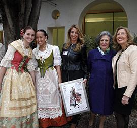 Desfile de ropa tradicional  en el Museo de Bellas Artes de Castellón