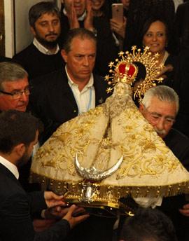 Procesión general con la imagen de la Patrona de Castellón, la Virgen del Lledó