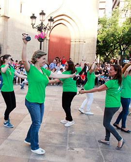 X Aniversario del Ball Perdut en la plaza Mayor de Castellón