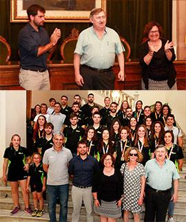 El ayuntamiento de Castellón recibe a los equipos del Balonmano Castellón