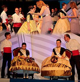 Presentación de las reinas de las fiestas de Sant Pere, Edurne Giner y Laia Tirado