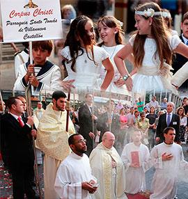 Procesión del Corpus Christi en Castellón