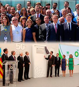 El Rey Felipe VI visita la refinería BP Castellón con motivo del 50 aniversario