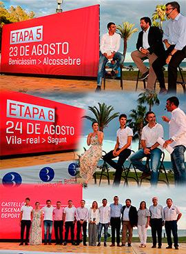 Presentación de las dos etapas en la provincia de Castellón de La Vuelta a España