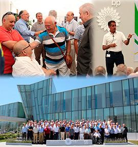 Antiguos profesionales celebran el 50 aniversario de la refinería de BP en Castellón