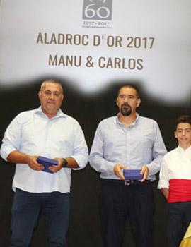Entrega de l´Aladroc d´Or 2017 a Manuel Peña y Carlos Torrent
