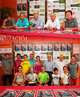 Presentación del XXXIV Circuito provincial de tenis de Castellón - Trofeo Hyundai
