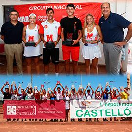 Éxito en los torneos TTK y Marca Jóvenes Promesas del Club de tenis Castellón