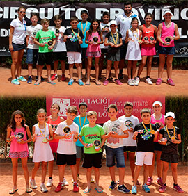 Torneo del Circuito de Tenis Provincial en el Club de Campo Mediterráneo