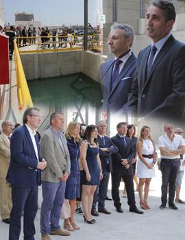 Inauguración del nuevo almacén de coque de BP en la dársena sur del Puerto de Castellón