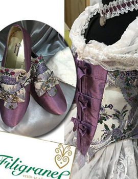 Filigranes confecciona para Paula Adell su indumentaria como Reina Infantil de Les Coves