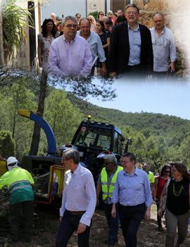 Visita del President de la Generalitat, Ximo Puig a La Pobla Tornesa y al Desert de les Palmes