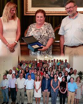 Homenaje a empleados públicos del Ayuntamiento de Castellón