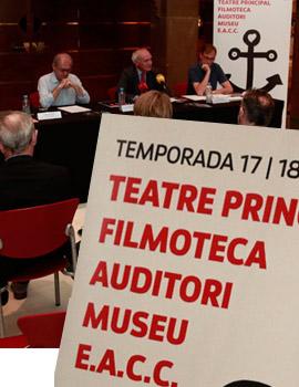 Presentación de la programación del Institut Valencià de Cultura para la temporada 2017-2018 en Castellón