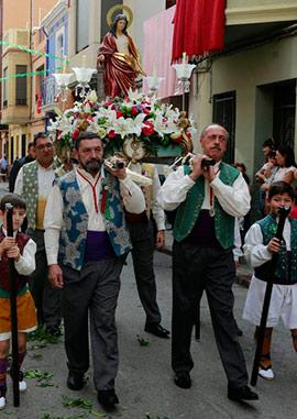 Festividad  de la calle Santa Bárbarba de Castellón