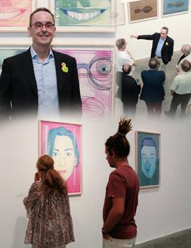 Inauguración de la exposición Ideología en reposo del artista Manuel Sáez en el Espai d´Art Contemporani de Castellón