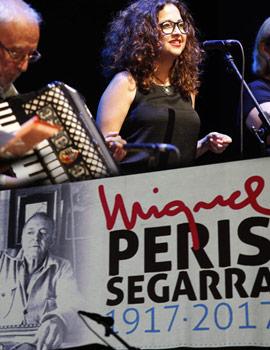 Homenaje al poeta e hijo predilecto de la ciudad de Castellón Miquel Peris i Segarra