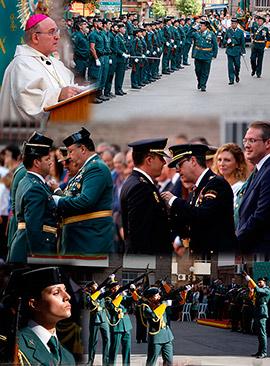 Acto conmemorativo de la Virgen del Pilar, patrona de la Guardia Civil