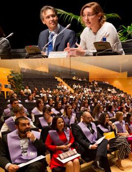 65 alumnos de Psicología de la UJI participan en el acto de graduación