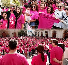 IV Marcha solidaria contra el cáncer de mama en Castellón