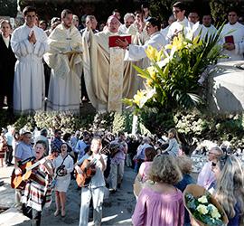 Acto religioso de la festividad de Todos los Santos en Castellón