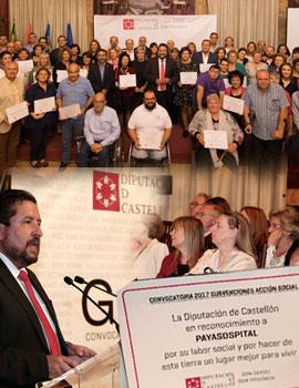 El Gobierno Provincial reconoce la labor del centenar de asociaciones y colectivos sociales beneficiarios de ayudas anuales