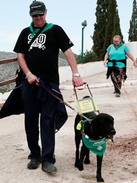 Romería de perros guía a la Magdalena