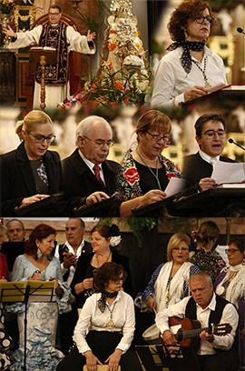 Misa rociera cantada por el coro y rondalla del Centro Andaluz de Castellón