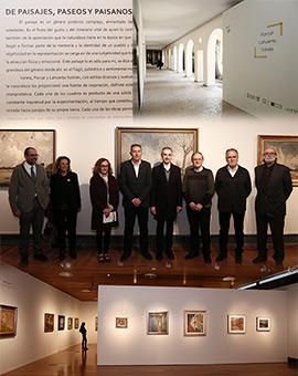 Presentación de la exposición de Porcar, Lahuerta y Varela en el Museo de Castellón