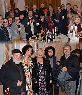 Brindis de los artistas de Castellón por una Navidad feliz