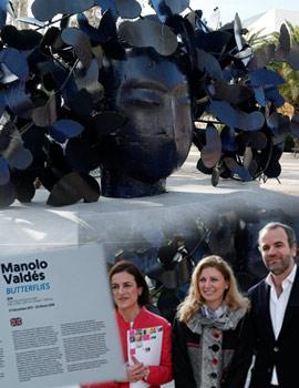 La escultura ´´Mariposas´´ de Valdés en el parque Ribalta de Castellón