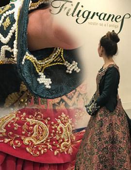 Descripción del traje de Ana Goterris , Na Violant 2018, confeccionado por Filigranes