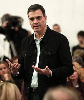 Pedro Sánchez en la asamblea abierta del PSOE en Castellón