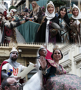 Cabalgata del Pregó de Castellón fiestas de la Magdalena