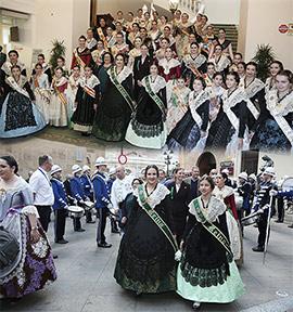Recepción a las reinas de los pueblos de la provincia de Castellón