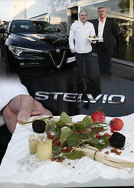 Miguel Barrera presenta Stelvio, un nuevo plato que lleva el nombre del primer SUV de Alfa Romeo