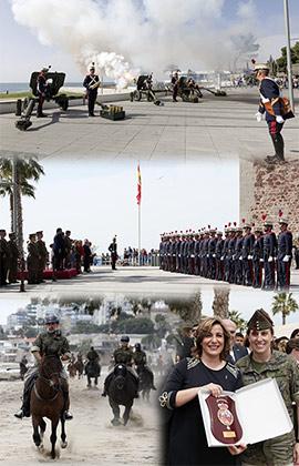 La Guardia Real izó la bandera de España en Benicàssim