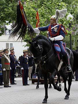 Parada militar de la Guardia Real y juramento de los castellonenses ante la bandera de España