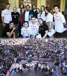 El centro de Castellón se convierte en el punto de apoyo más grande contra el Acoso Escolar