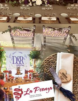 Los detalles de la decoración de la primera boda de mayo de La Peonza