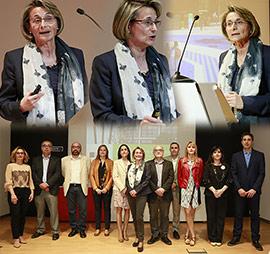 La candidata a rectora Eva Alcón presenta su programa y equipo a la sociedad