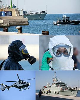 Simulacro en el puerto de Castellón con protocolo de incidente sanitario infeccioso