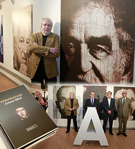 Inauguración de la exposición Personatges de Antoni Miró en el Menador de Castellón