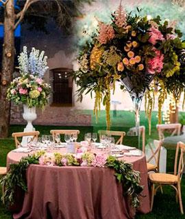 Conjuntos florales para una boda en Castellón