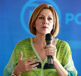 María Dolores Cospedal visita Castellón en su carrera por la presidencia del PP