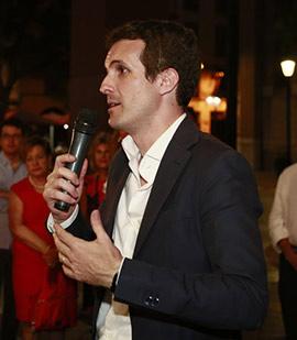 Pablo Casado visita Castellón en su carrera por alcanzar la presidencia del PP